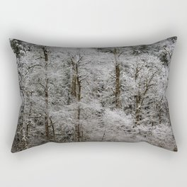 Snow Dusted Trees, No. 2 Rectangular Pillow