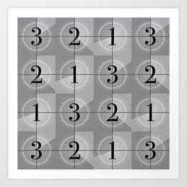 321 Cinema // Old Film Countdown Art Print