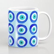 Evil Eye Talisman - on turquoise Mug