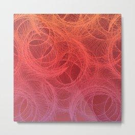 Feather Swirls - Hot Metal Print