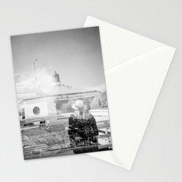 """""""The Lady of Malibu"""" Black and White Holga photo Stationery Cards"""