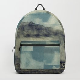 manipulated mountains with geometric elements Backpack