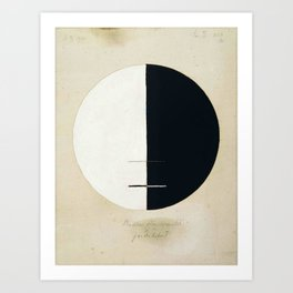 Hilma Af Klint Buddha's Standpoint In The Earthly Life Art Print
