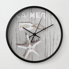 La Mer Beach Collage Wall Clock