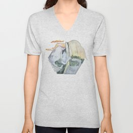 Yosemite National Park - Half Dome Unisex V-Neck
