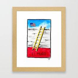 El Muro Framed Art Print