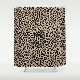 Leopard Almon Buff Shower Curtain