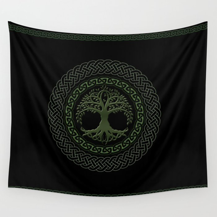 Celtic Tree Of Life Wall Tapestry By Luciasgarage