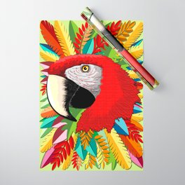 Macaw Parrot Paper Craft Digital Art Wrapping Paper