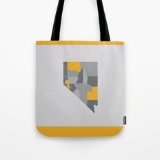 Nevada State Map Print Tote Bag