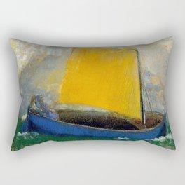 "Odilon Redon ""La Barque Mystique"" Rectangular Pillow"