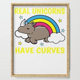 Unicorn Rhino curves obesity Sexy Gift Serving Tray