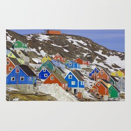 Colourful Houses in Western Greenland Rug