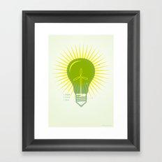 Bright Green Ideas Framed Art Print