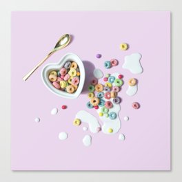Cereal and Milk Canvas Print
