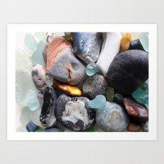 Seaglass Art Print