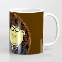 221b Mugs featuring 221b Beaker Street by Onebluebird