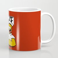 popeye Mugs featuring Homer-Popeye by le.duc
