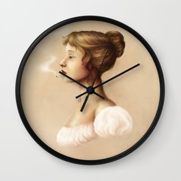 Smoking Jane Wall Clock