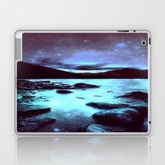 Magical Mountain Lake Violet Aqua Laptop & iPad Skin