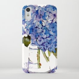 Hydrangea painting iPhone Case