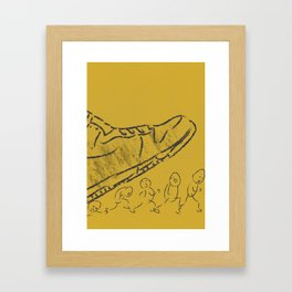 Giant shoe Framed Art Print