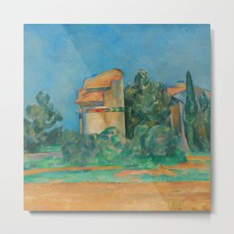 "Paul Cezanne ""The Pigeon Tower at Bellevue"" Metal Print"