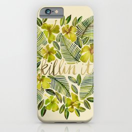 Killin' It – Tropical Yellow iPhone Case