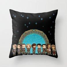 Cast of Stargate Atlantis Throw Pillow