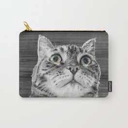 Big Eyed Cat B&W Carry-All Pouch
