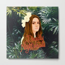 Lana Deadly Nightshade Metal Print