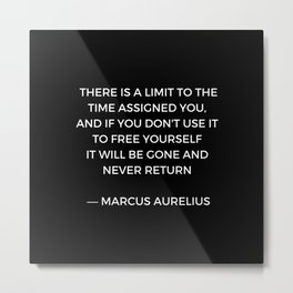 Stoic Inspiration - Marcus Aurelius on Time Metal Print
