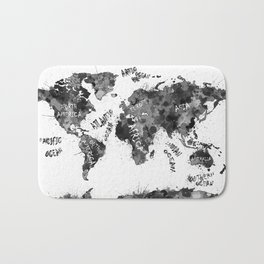 world map color splatter 4 Bath Mat