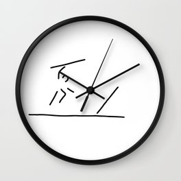 javelin thrower Wall Clock