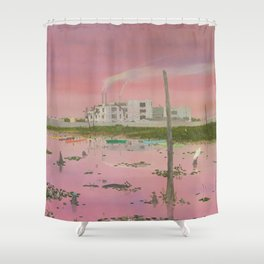 East Bank Wastewater Treatment Plant Shower Curtain