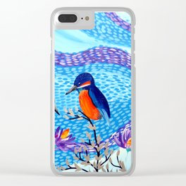 2 Kingfishers Clear iPhone Case