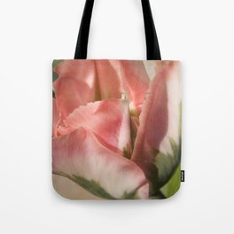 Rose and Green Tulip 2 by Teresa Thompson Tote Bag
