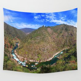 River going down the mountain (landscape) Wall Tapestry