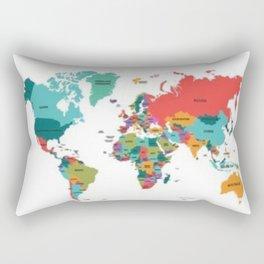 beautiful map Rectangular Pillow