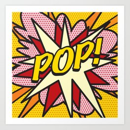 POP Comic Book Cool Pop Culture Graphic Art Print