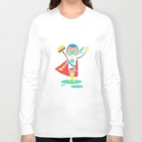 super hero Long Sleeve T-shirts featuring Super Hero 2 by La Lanterne