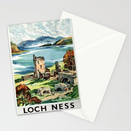 Loch Ness Vintage Travel Poster Stationery Cards