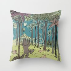 wild things are Throw Pillow