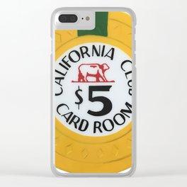 California Club - Casino Chip Series Clear iPhone Case
