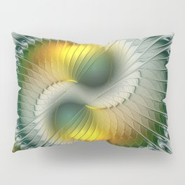 Like Yin and Yang, Abstract Fractal Art Pillow Sham