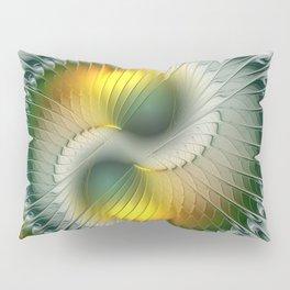 Like Yin and Yang, Abstract Fractal Art Pillow Sham
