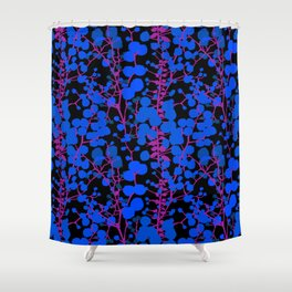 Australian Golden Wattle Flowers in Black Shower Curtain