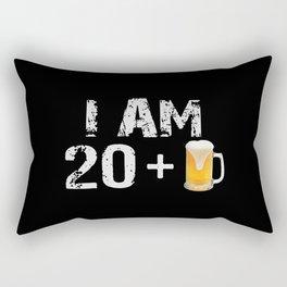 21st Birthday Beer Lover Rectangular Pillow