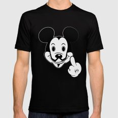 Mask Anonymouse Mens Fitted Tee MEDIUM Black