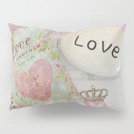 Shabby Chic Love Romantic Decor - Love Skeleton Key Prints Home Decr Pillow Sham